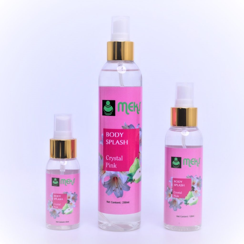 Crystal Pink body splash by MEKS